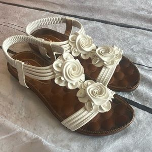White Size 10 sandals worn once